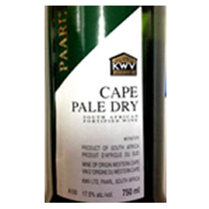 KWV Pale Dry Sherry 750ml