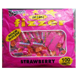 Beacon Mini Fizzer Strawberry 100 units
