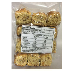 Home Made Muesli Rusks 350g