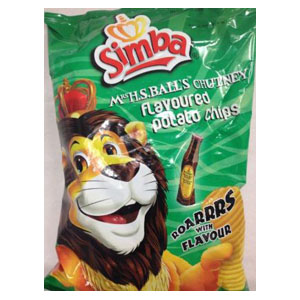 Simba Mrs H S Ball's Chutney Chips 125g