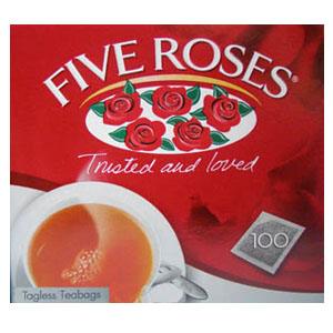 Five RosesTagless 102 Teabags 250g